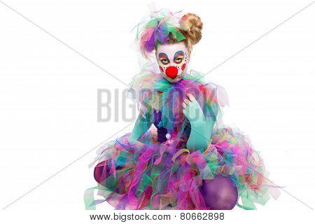 Clown Sitting Cross-legged