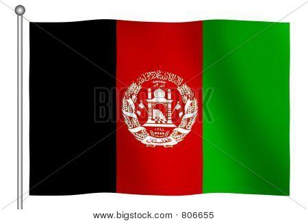 Flag of Afghanistan Waving