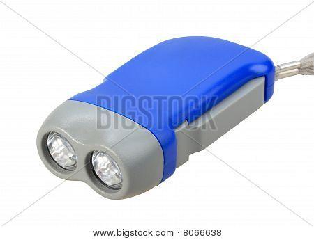 Single Blue-gray Hand Flashlight