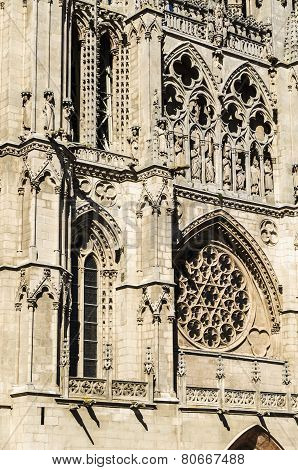 Gothic cathedral detail