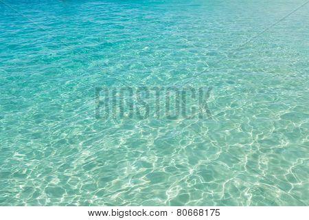 Clear Turquoise Water In Santa Maria Beach In Sal Cape Verde