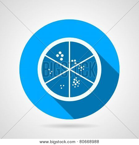 Flat vector icon for laboratory. Petry dish