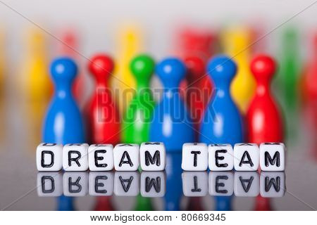 Cube Letters Showing Dream Team