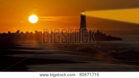 Santa Cruz Walton Lighthouse In The Morning