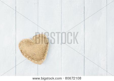St Valentine's Day Burlap Heart