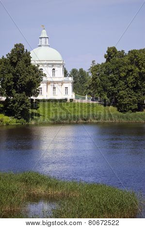 Russia. Petersburg. Oranienbaum (Lomonosov). lower park. Big Menshikovsky palace.
