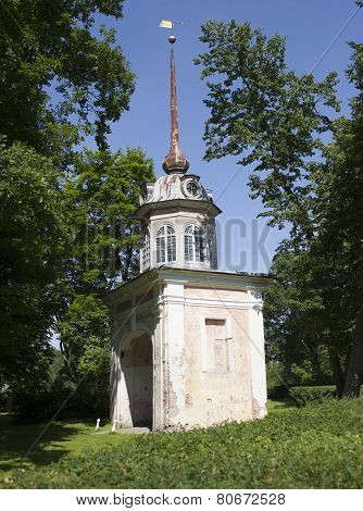 Oranienbaum (Lomonosov). Upper park. Entrance honourable gate of fortress of the emperor Pyotr III