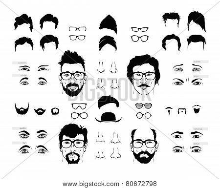 elements of a person face men