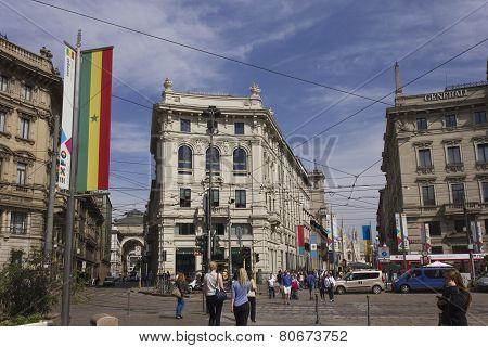 Piazza Cordusio In Milan