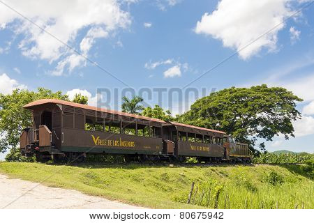 Tourist Train In El Valle De Los Ingenios,cuba