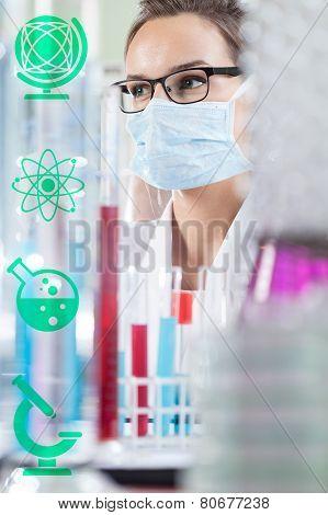 Female Chemist In Laboratory