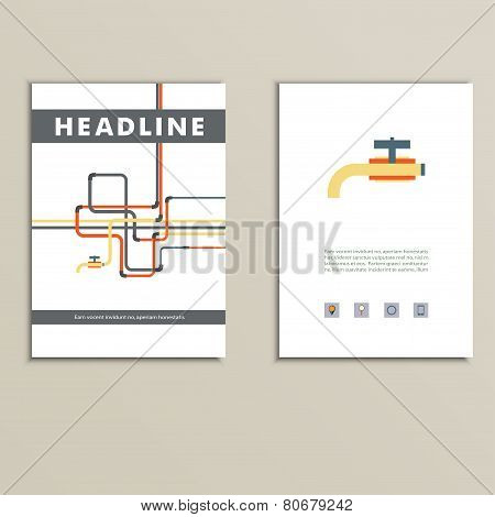 Cover book with background of water pipes