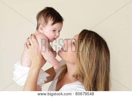Newborn Baby And Mother