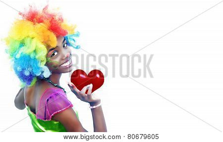 Valentine Clown Girl