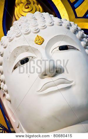 Buddha Face White