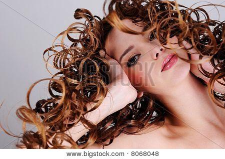 Beautiful Expressive Female Face