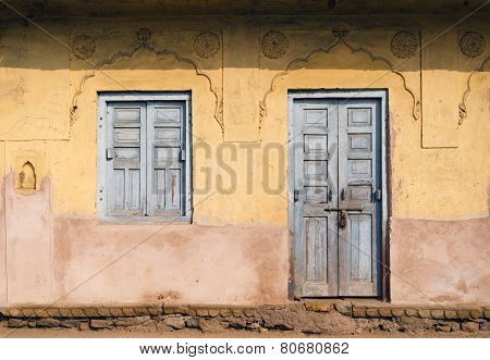 Traditional Door And Window At Chand Baori Stepwell In Jaipur
