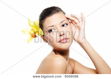 Skincare Treatment Of Beauty Asian Female