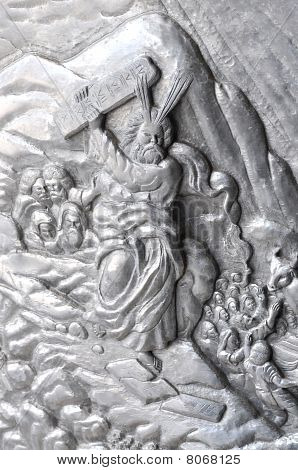 Moses Silver Carve Art