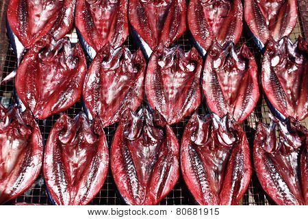 Dried Fish Put Food Coloring