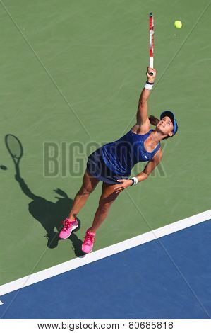 Professional tennis player Lauren Davis from USA during US Open 2014 match