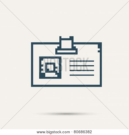 Simple stylish pixel icon cards. Vector design