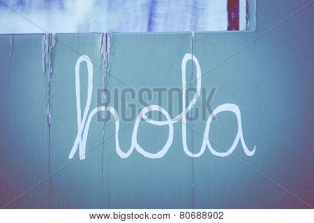 Spanish Word Hola - Hello