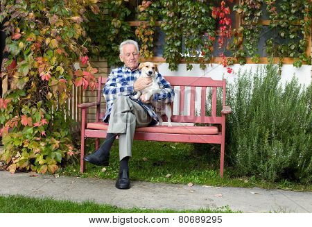 Senior Man With Dog