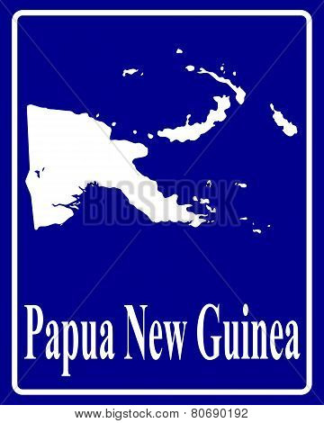 Silhouette Map Of Papua New Guinea
