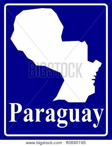 Silhouette Map Of Paraguay