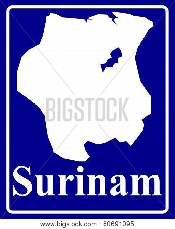 Silhouette Map Of Surinam