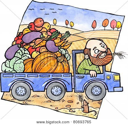Farmers Harvest Truck