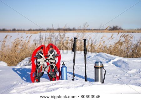 Equipment in the snow.