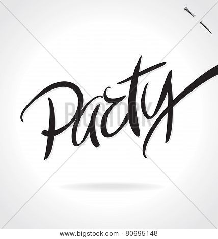 PARTY hand lettering (vector)