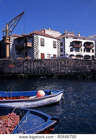 Puerto de la Cruz harbour, Tenerife.