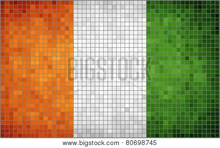 Abstract Mosaic Flag of Ivory Coast