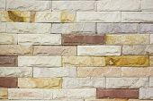 stock photo of brownstone  - Close up brick wall  - JPG