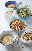picture of quinoa  - Various types of pulses - JPG