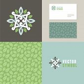 stock photo of flower shop  - Vector abstract emblem  - JPG