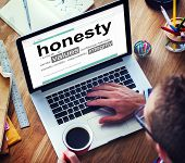 picture of honesty  - Digital Dictionary Honesty Values Integrity Concept - JPG