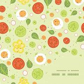 pic of asymmetric  - Vector fresh salad frame corner pattern background graphic design - JPG