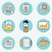foto of ebusiness  - Set of data analytics icons for business  - JPG