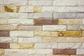 stock photo of brownstone  - Close up brick wall  - JPG