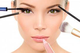 image of face-powder  - Makeup concept  - JPG