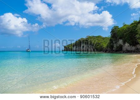 Anse Canot beach at Marie Galante, Guadeloupe