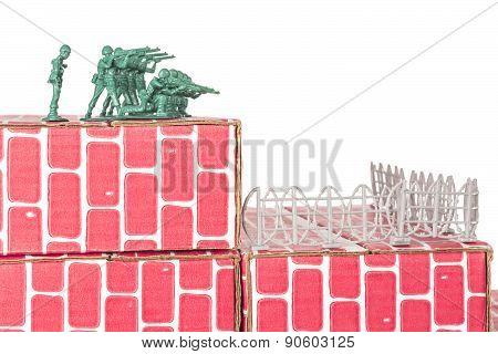 Army Men Guarding Base