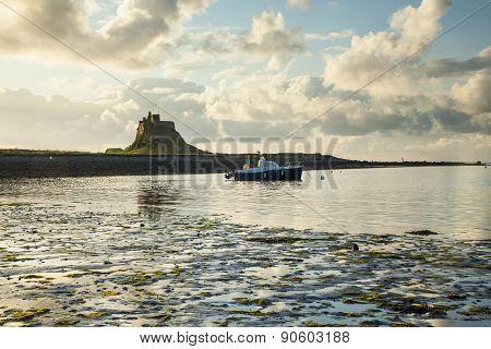 Lindisfarne Castle, Holy Island, Northumberland, Engalnd.