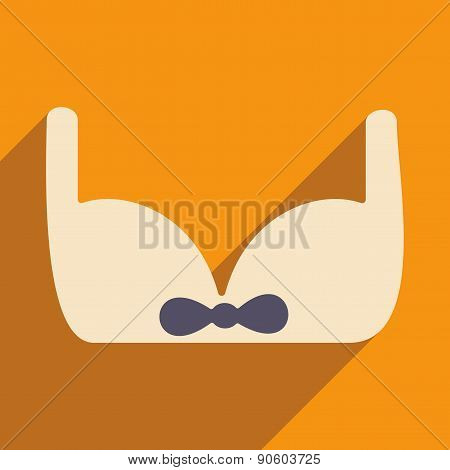 Flat with shadow icon and mobile applacation bra