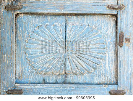 Weathered Blue Shutter