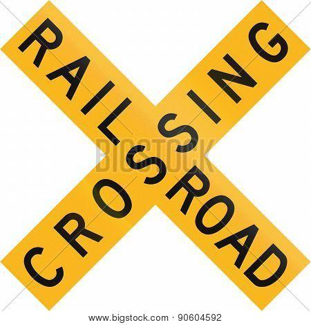Railroad Crossing In Botswana